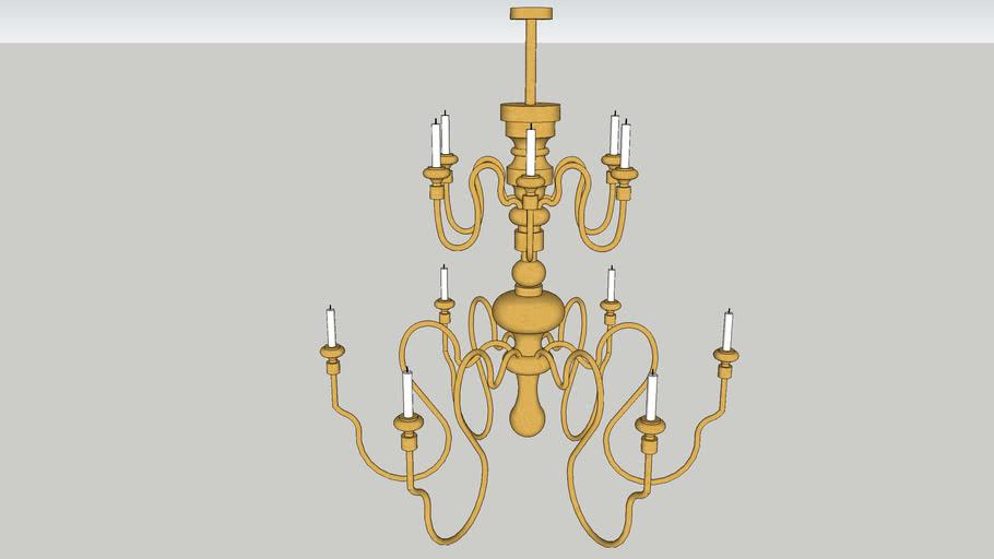 Chandelier Brass Modern
