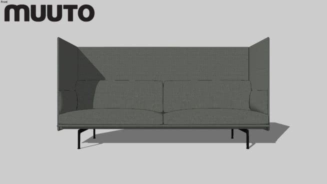 Muuto Sofa Outline Highback 3 Seater 3d Warehouse