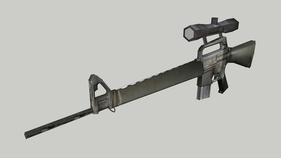 M16 SNIPER RIFLE LOW POLY
