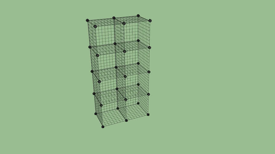 Wire storage cubes.