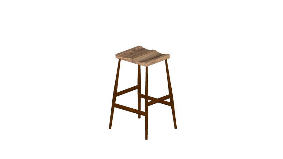 stool dark oak and olivewood