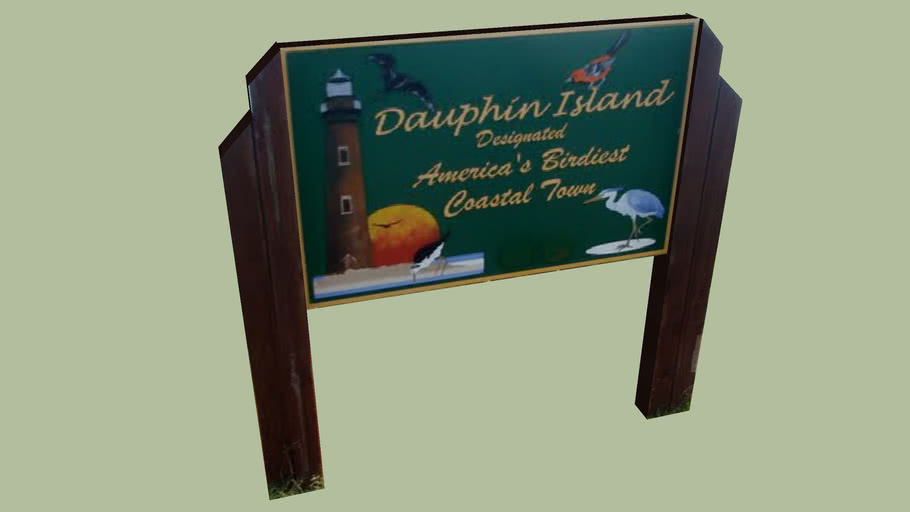 Sign of Dolphin Island, Alabama
