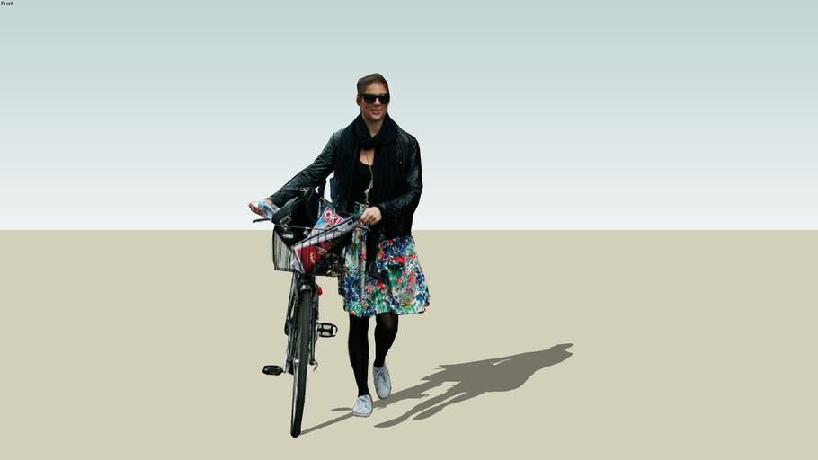 woman in bike