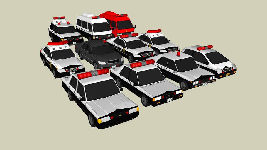 Japan Emergency Cars Pack N°1
