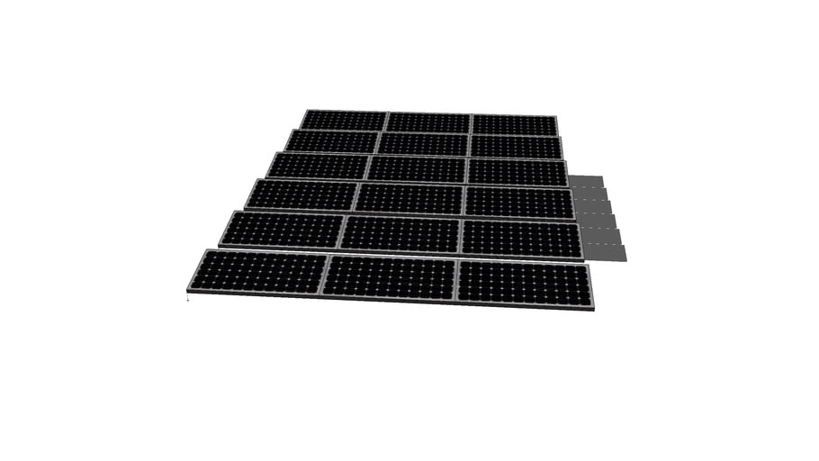 10 degree Flat Roof Solar Array