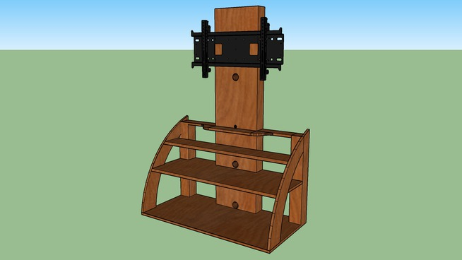 T.V. Stand with Flat Screen Mount
