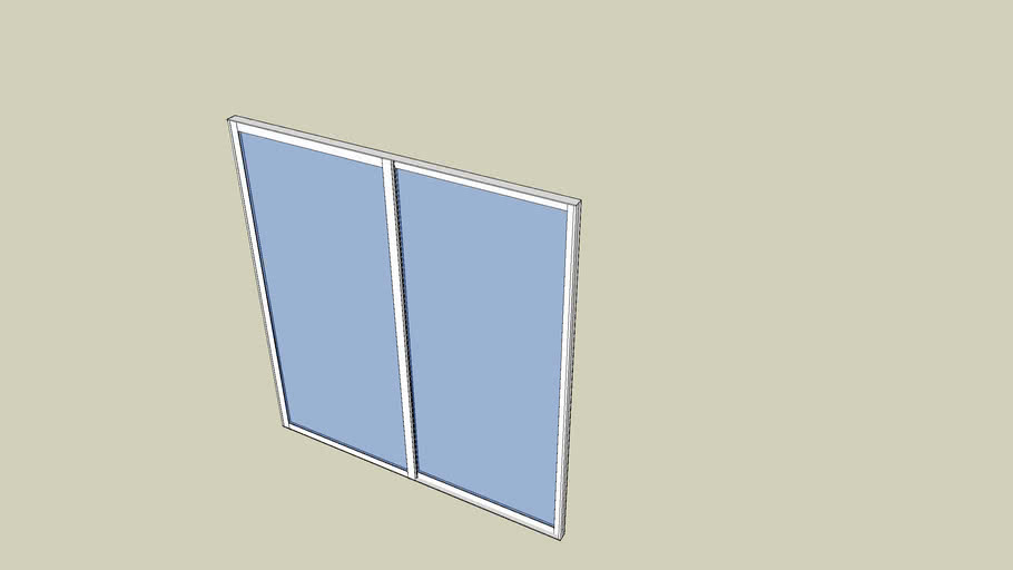 Door, aluminium sliding, side window
