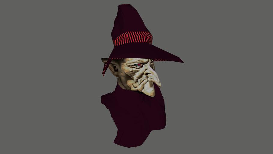 """OLD HAG ....""Witch/Warlock"" ... Mask"