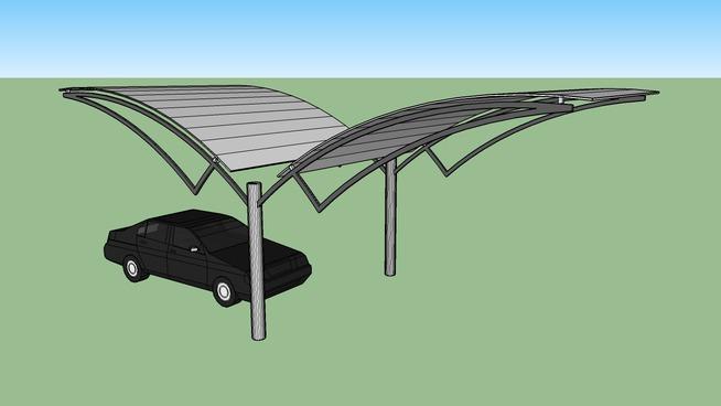 Tensile shade-parking   3D Warehouse