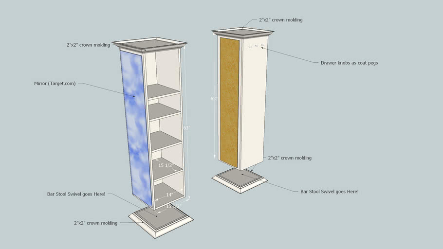 Revolving Mirror Shelf