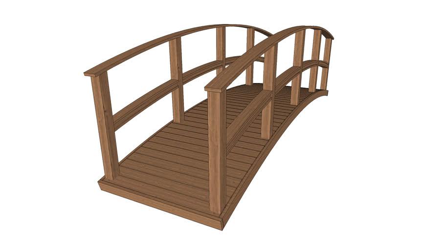 Ponte de madeira curva de 4,0m x 1,2m