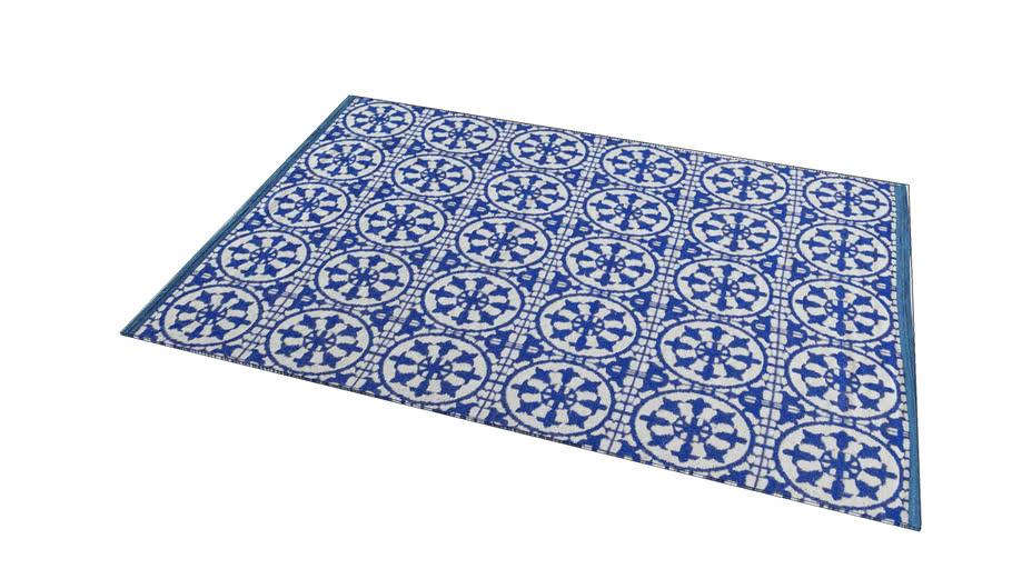 Tapis d'extérieur en PVC bleu et blanc 160 x 230 cm SANTORINI REF 156208 PRIX 149.00€