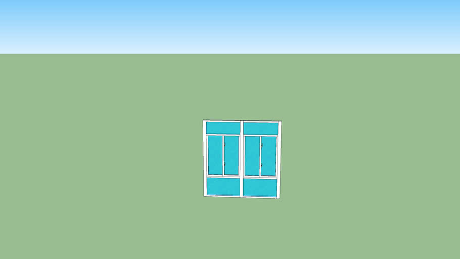 8x8 front wall glass