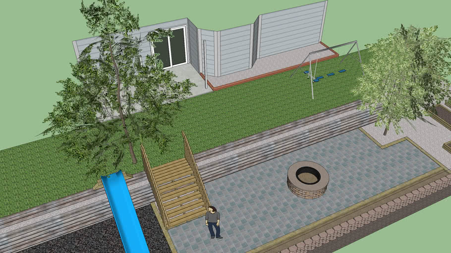 Back yard design.