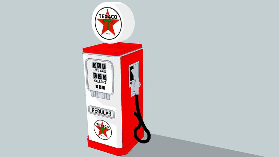 Old Style Texaco Gas Pump