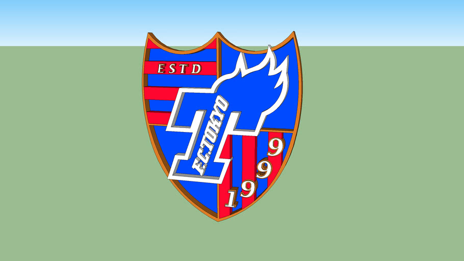 Fc Tokyo football logo 3D