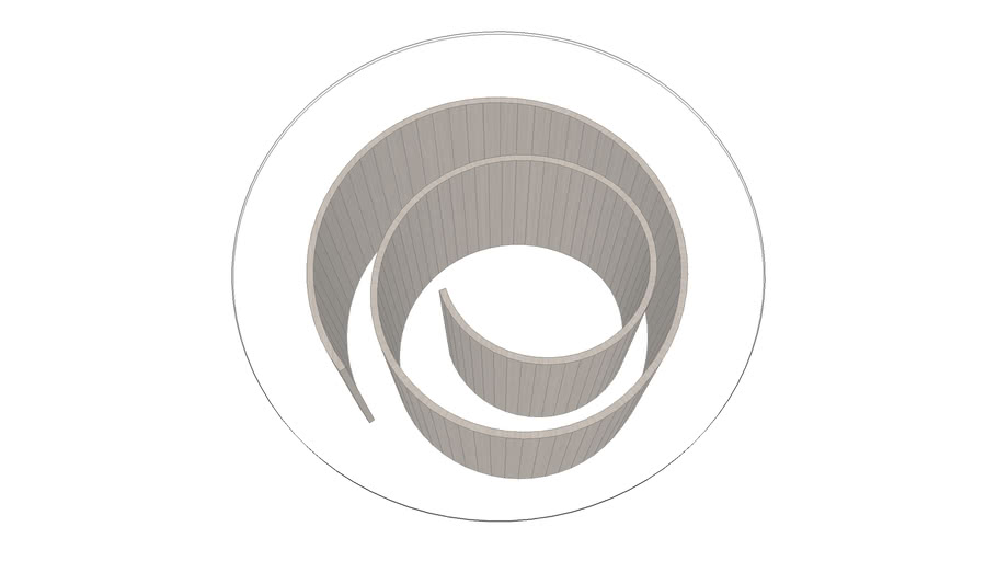 TABLE BASSE SPIRALE