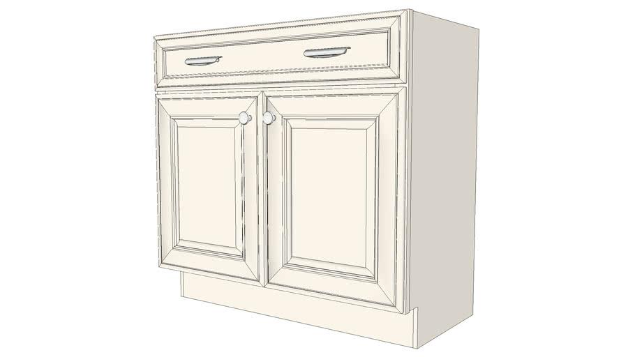 Vanity Base Double Door