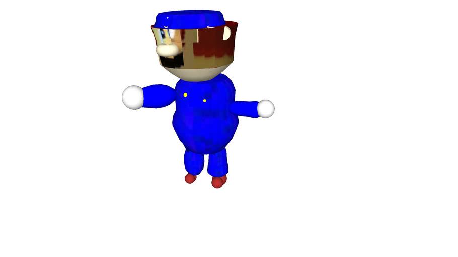 64 Blue Mario