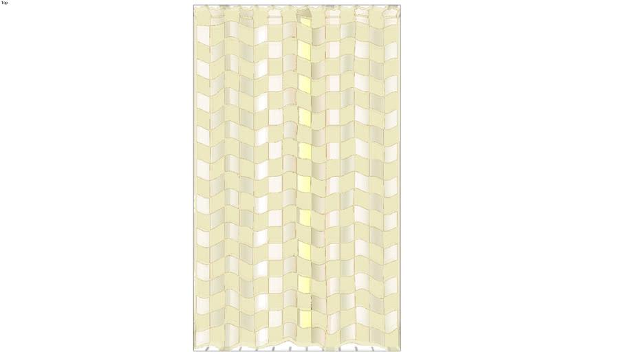 curtain panel, yellow & white gingham