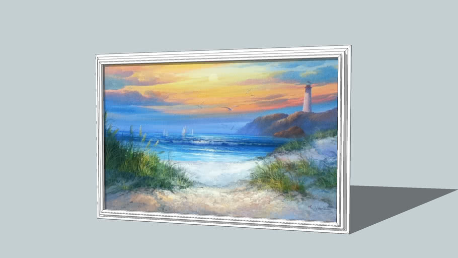 beach picture in frame