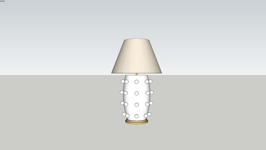Visual Comfort Kelly Wearstler Casual Linden Table Lamp In Plaster White