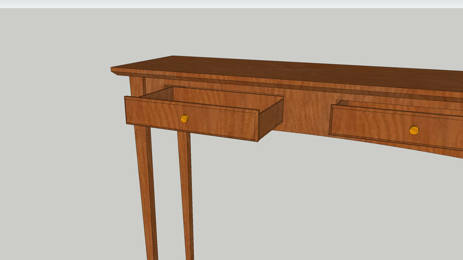 SketchUp Tutorial Table with Drawers