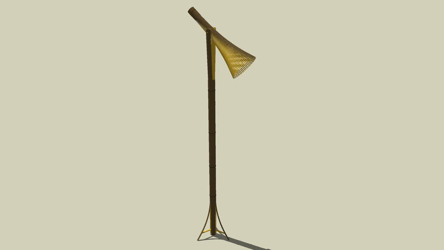 scenecaster bamboo task floor lamp