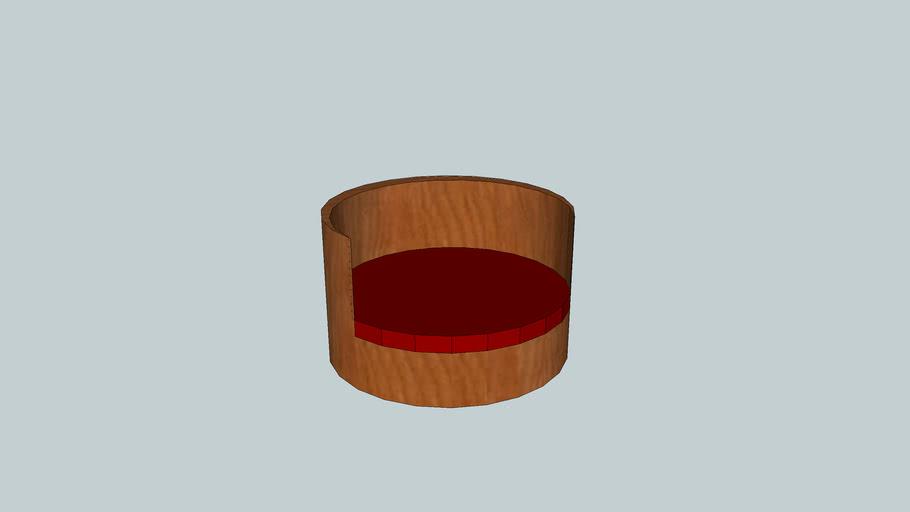 Round Cherry Wood Chair