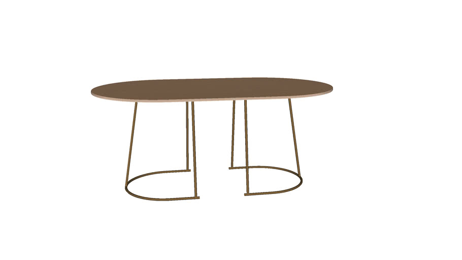 Airy coffee table - medium - by Muuto - designed by Cecilie Manz