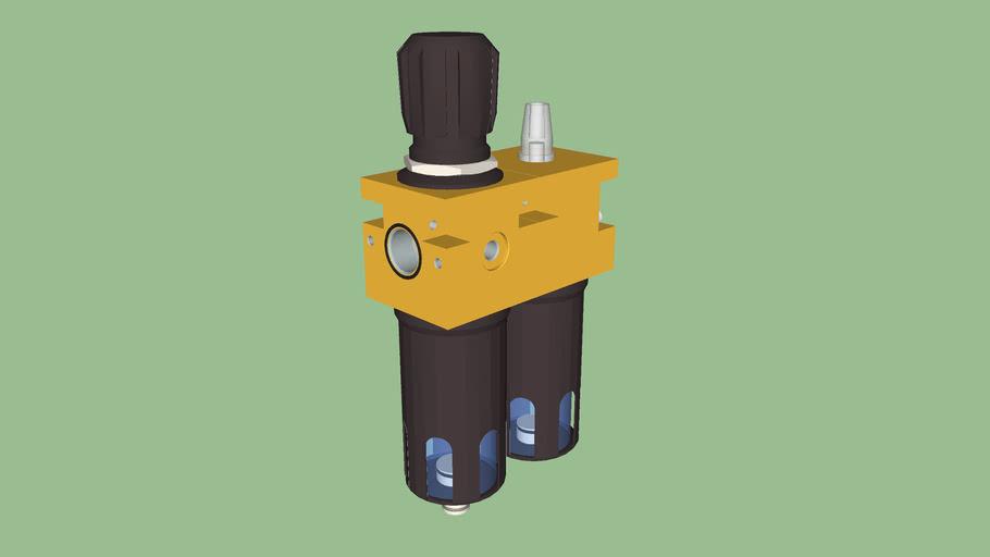 Filtre régulateur + lubrificateur 1/2 (prémonté)