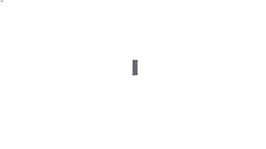 Ressort charge forte série TR fil rond section 1.6 longueur à vide = 25 mm