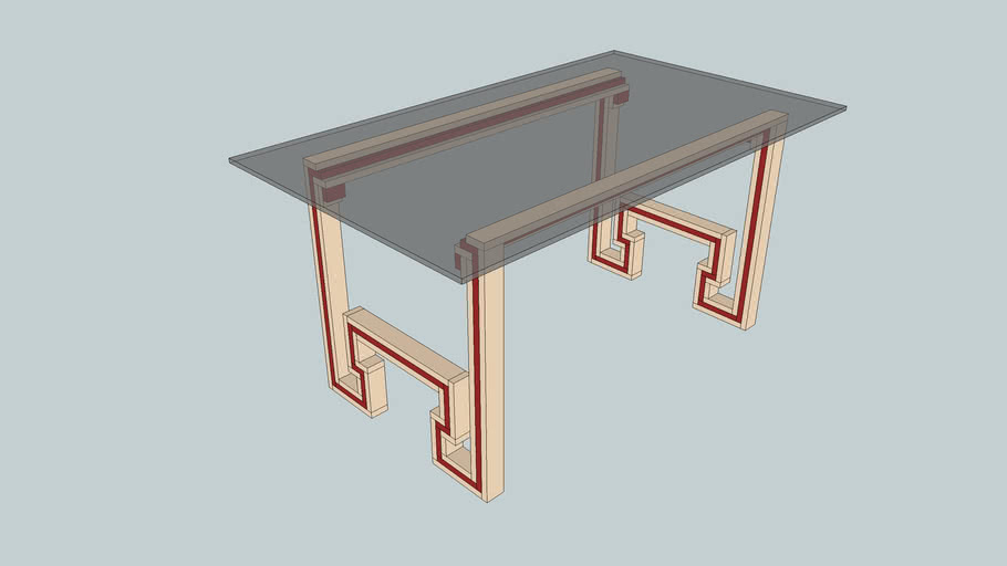 Greek Key Desk from Popular Woodworking October 2000 Issue