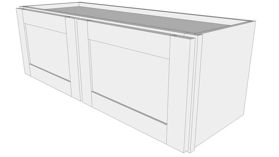"Bayside Wall Cabinet W3612 - 12"" Deep, Two Doors"