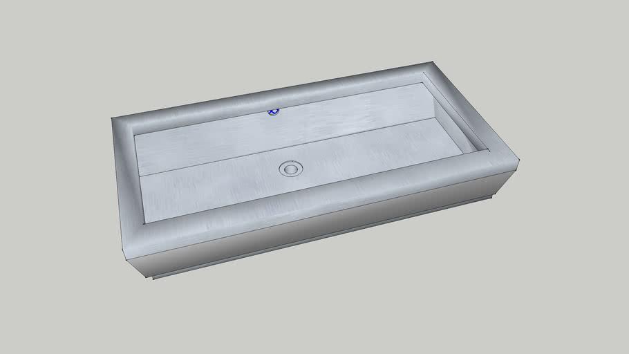 lavabo metalico rectangular