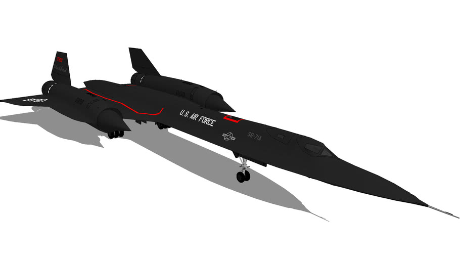 Aircraft - Lockheed SR-71A Blackbird