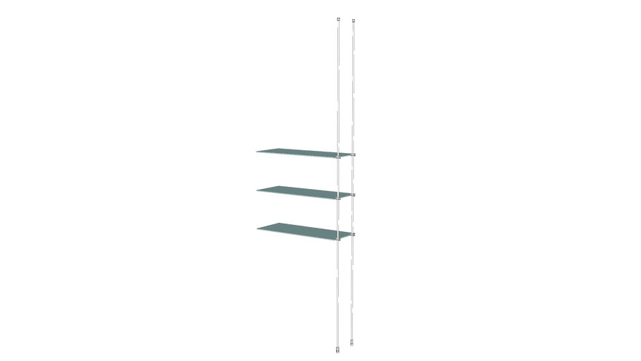 Tube – CTF - 3 Glass Shelves Add On Unit