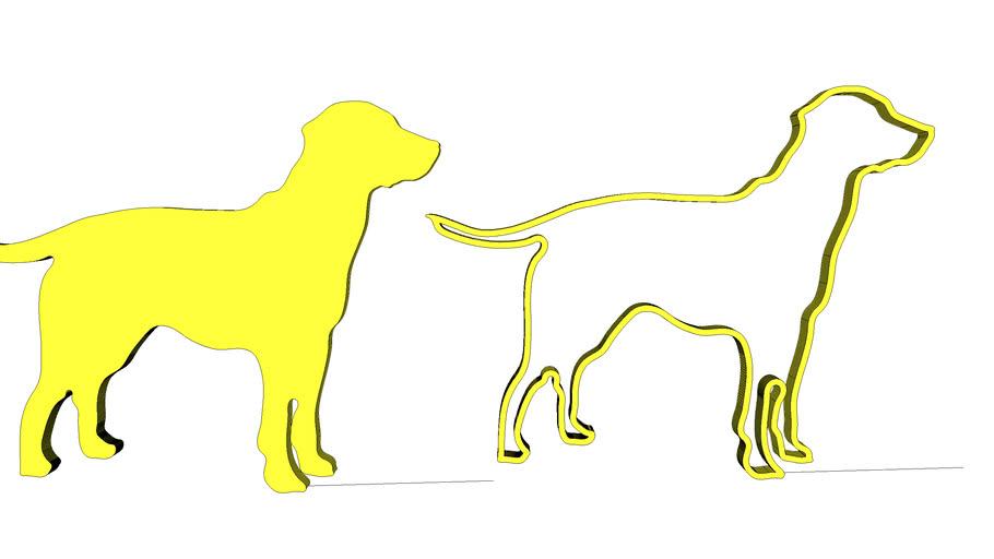 labrador outline