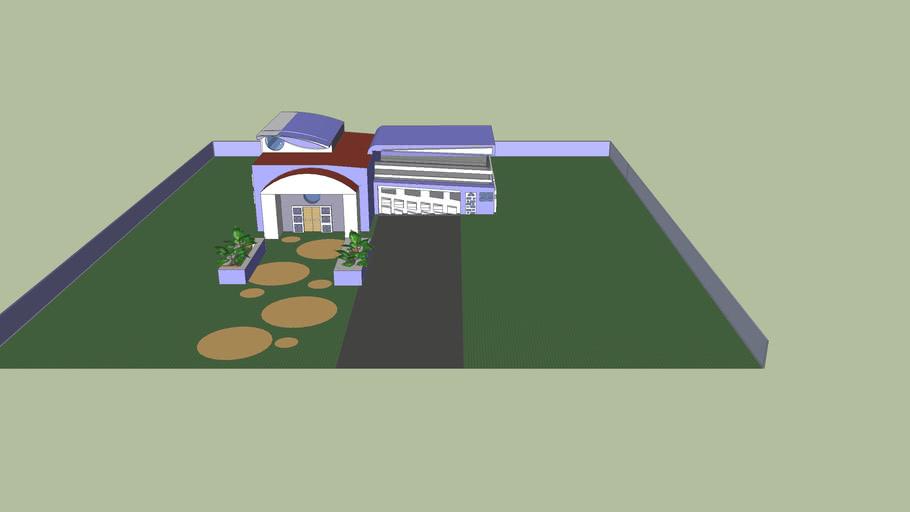 big modern house