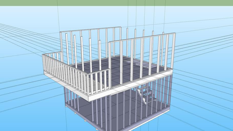 16x16 strait with balcony