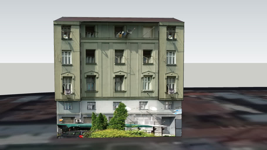 Zgrada kod Pozorišta mladih