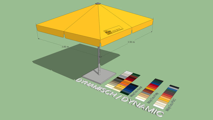 May Schattello 3x3.5m Rectangle Market Umbrella
