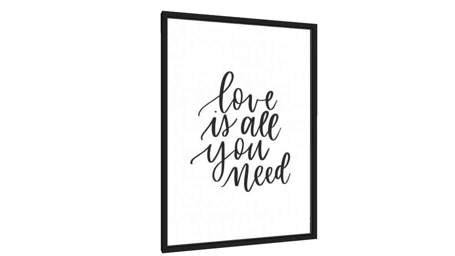 Quadro Love Is All You Need - Galeria9, por Rachel Moya