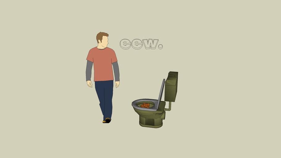 poop in toilet