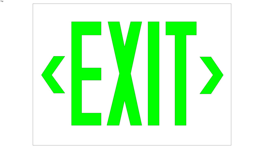 Nico EA Series Exit Sign Red