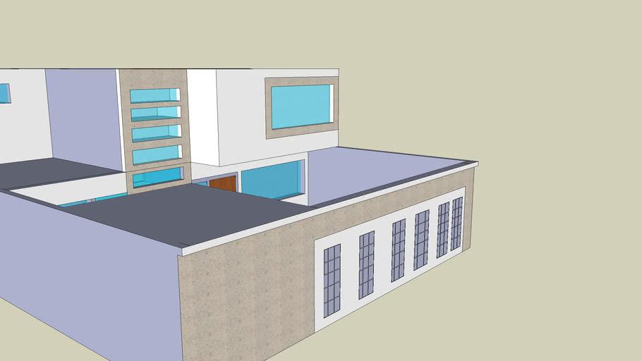 casa con fachada cantera