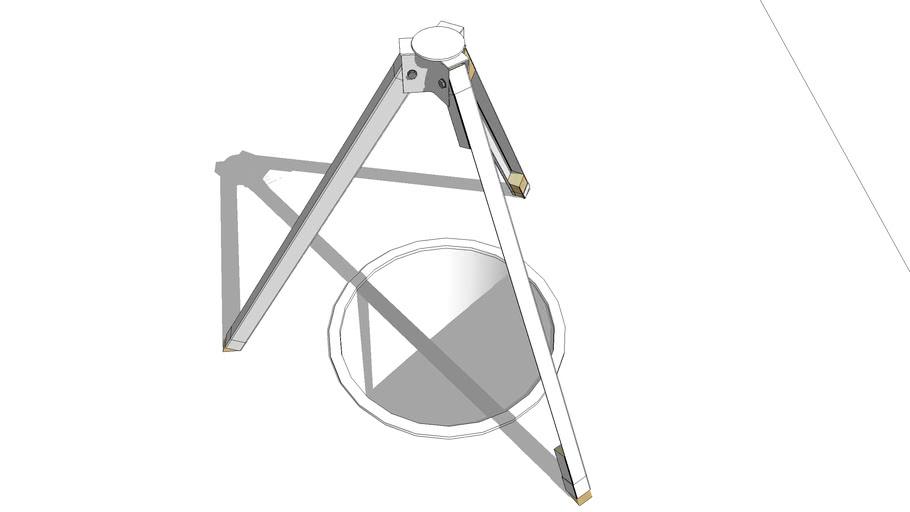 Tripod purpose built for camera crane project