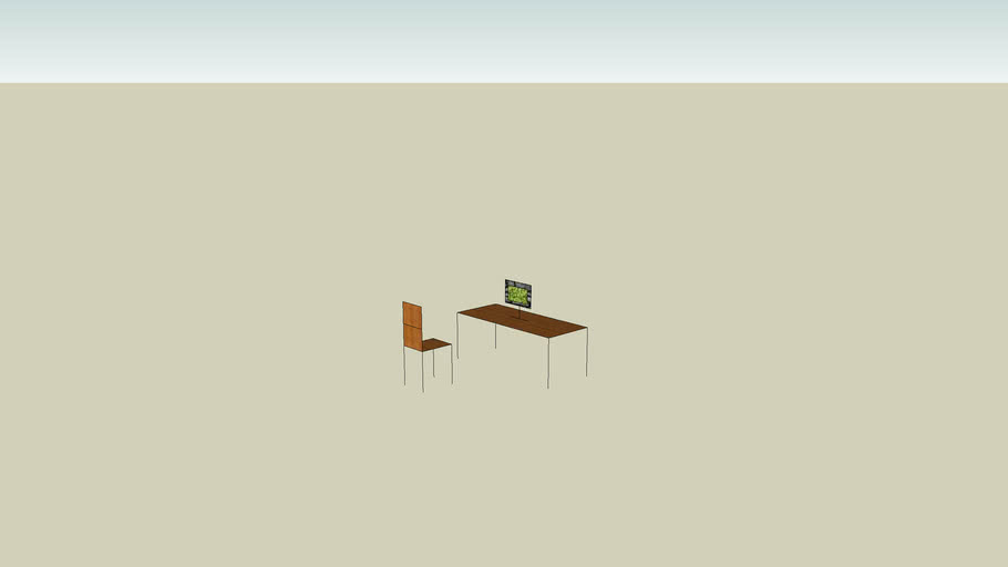 ławka z krzesłem