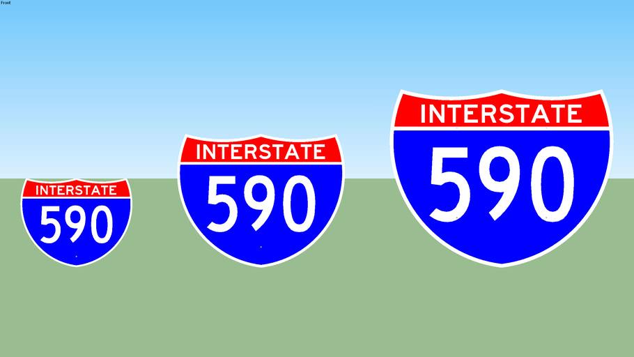 Interstate 590 Sign