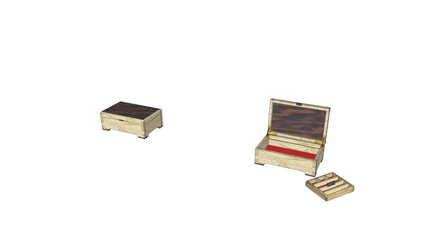 Ash and Walnut Jewellery Box
